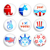 Election badges royalty free illustration