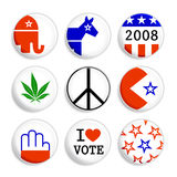 Election badges. Set of badges for USA or other election campaigns Stock Photography