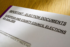Election ballot documents Stock Photo
