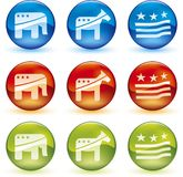 Election balls (vector) Royalty Free Stock Image