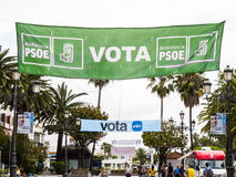 Election banners in Ayamonte, Andalucia Spain. Stock Photography