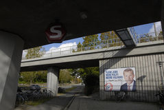 ELECTION BILLBOARD OF DANISH PEOPLES PARTY Royalty Free Stock Images