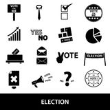 Election black simple icons set Stock Photos