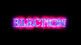 Election Blue and Red word 3D animation 4K video overlay stock video footage