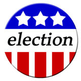 Election Button. Patriotic buttons for the 2008 elections and vote Royalty Free Stock Photos