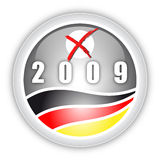 Election Button. Button for the german Election Stock Photo