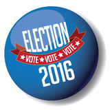 Election 2016 button Royalty Free Stock Image