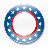 Election campaign badge. Individual blank election campaign badge icon graphic Royalty Free Stock Images