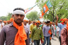 BJP supporter Royalty Free Stock Photos