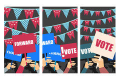 Election campaign, election vote, election poster Royalty Free Stock Images