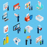 Election Campaign And Voting Isometric Icons Stock Photo