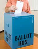 Election - Casting Ballot Stock Photo