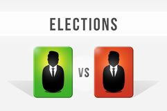 Election, choice between both candidates. Candidate vs candidate. Choose your candidate. Illustration vector illustration