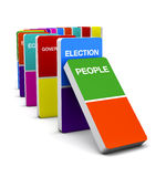 Election Colorful Domino Royalty Free Stock Photo