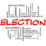 Election Concept in red and black Royalty Free Stock Image