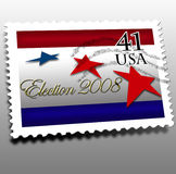 Election day 2008. Note this is not a REAL USA Stamp. Election day 41 cents USA canceled stamp Royalty Free Stock Images