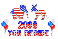 Election day 2008 clip art royalty free stock photo