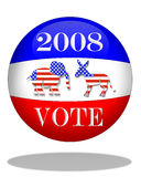 Election Day 2008 graphic. 3D graphic for Election Day 2008 Stock Image