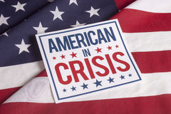 Election Day American in crisis Royalty Free Stock Photos