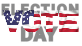 Election day american flag text Stock Photography