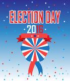 Election 2016. Election day 2016 American Presidential Election wallpaper, background. Poster or brochure template. Election banner. Patriotic. Vector Royalty Free Stock Images
