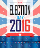Election 2016. Election day 2016 American Presidential Election wallpaper, background. Poster or brochure template. Election banner. Patriotic. Vector Stock Photo