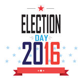 Election 2016. Election day 2016 American Presidential Election wallpaper, background. Poster or brochure template. Election banner. Patriotic. Vector Royalty Free Stock Photos