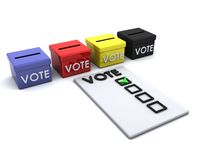 Election day ballot box Royalty Free Stock Photos