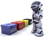 Election day ballot box. 3D render of election day ballot boxes Royalty Free Stock Image