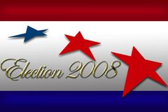 Election day banner campaign vote. Election day vote banner with reflective gold type Stock Photos