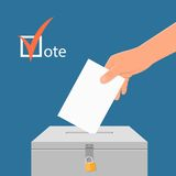 Election day concept vector illustration.  Royalty Free Stock Photography