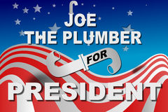 Election day, Joe the plumber for president. Election day, Joe the plumber for president on American flag Stock Images