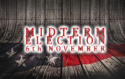 Election Day November 6, 2018 with US American flag concept background vector illustration