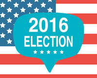 Election day poster. 2016 USA Royalty Free Stock Images