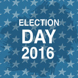 Election day poster. 2016 USA. Politics ballot concept. Stars background. Vector illustration Stock Images