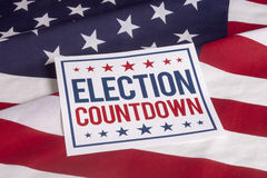 Election Day Presidential Vote. Election Day Countdown Presidential Vote Stock Photos