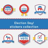 Election Day!. Stickers set. Royalty Free Stock Photography