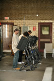 Election Day United States 2008. Voting in Engine Station No. 12, Pittsburgh, Pennsylvania Royalty Free Stock Image
