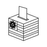 Election day uruguay urn. Vector illustration design Royalty Free Stock Photo