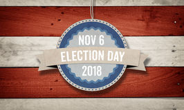 Election Day 2018, US American flag concept background. Election Day November 6, 2018 with US American flag concept background Stock Photo