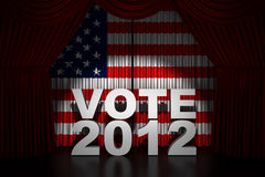 Election Day Usa 2012. Render of stage curtain royalty free illustration
