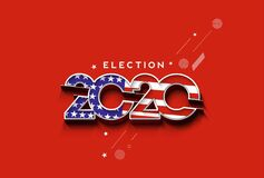 Election day. Usa debate of president voting 2020. Election voting poster. Vote 2020 in USA