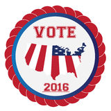 Election day, Vector illustration Stock Photography