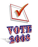 Election Day Vote 2008 3D Graphic Stock Photos