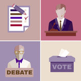 Election Debates Royalty Free Stock Photo