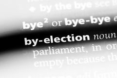 By-election. Word in a dictionary.  concept royalty free stock image