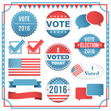 Election Element Set Royalty Free Stock Photography