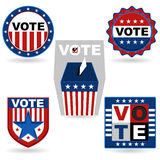 Election Emblem. An Illustration Of USA Election Emblem. Useful As Icon, Illustration And Background For USA Election Theme royalty free illustration