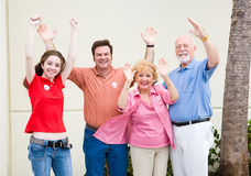 Election - Enthusiastic Voters Stock Image
