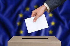 Election in European Union - voting at the ballot box Royalty Free Stock Photos
